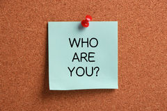 Who are You? Stock Photo