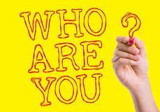 Who Are You written on wipe board Royalty Free Stock Images