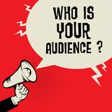 Who Is Your Audience Stock Photo