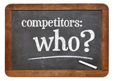 Who is your competitor concept Royalty Free Stock Images