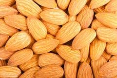 Whole almond nuts closeup Royalty Free Stock Photo