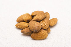 Whole almonds Royalty Free Stock Photo