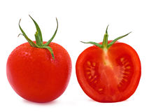 Free Whole And A Half Tomato With Water Drops Royalty Free Stock Image - 18437476