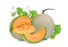 Free Whole And Slice Of Japanese Melons, Orange Melon Or Cantaloupe M Royalty Free Stock Image - 120694486