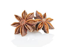 Whole anise stars Royalty Free Stock Photos