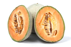 Whole and sliced cantalaupe Royalty Free Stock Photos
