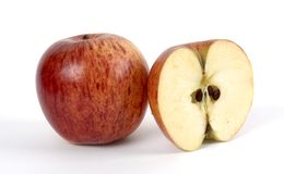 Whole apple and cut Royalty Free Stock Photography