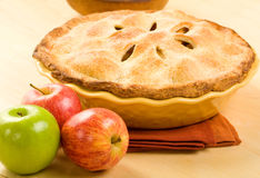 Whole Apple Pie Stock Image