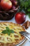 Whole apple pie Stock Photo