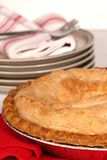 Whole apple pie with a flaky crust Royalty Free Stock Photos