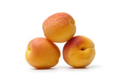 Whole apricots Royalty Free Stock Photos