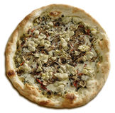 Whole Artichoke and Mushroom  Vegetarian Pizza Stock Photos