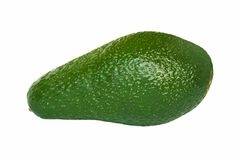 Whole avocado isolated on white background Stock Images