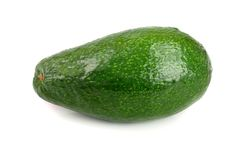 Whole avocado isolated on white background close-up Royalty Free Stock Image