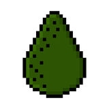Whole avocado pixel art Stock Photos