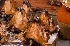 Whole baked lamb heads, Morocco Stock Photo