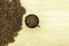 Whole bean coffee stock photo