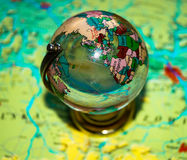 Whole big planet earth  small globe Stock Photos