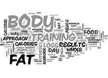 A Whole Body Approach To Fat Loss Word Cloud. A WHOLE BODY APPROACH TO FAT LOSS TEXT WORD CLOUD CONCEPT Royalty Free Stock Images
