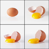 Whole and break egg Royalty Free Stock Photography
