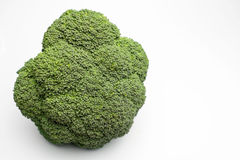 Whole brocoli. Cabbage isolated on a white background royalty free stock photos