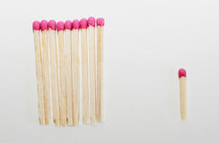 Whole and broken matches Royalty Free Stock Image