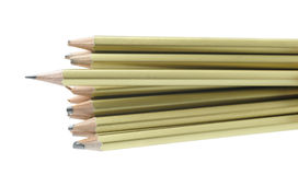 Whole and broken pencils Royalty Free Stock Image