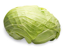 Whole cabbage in a white background Royalty Free Stock Image