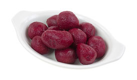 Whole Canned Beets In Dish Royalty Free Stock Images