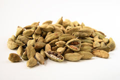 Whole cardamon seeds Royalty Free Stock Image