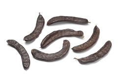 Whole Carob pods Stock Images