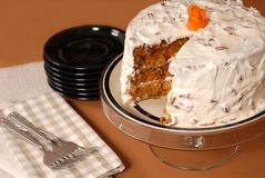 Whole carrot cake Stock Photography