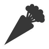 Whole carrot icon silhouette Royalty Free Stock Photos