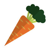 Whole carrot icon Stock Photos