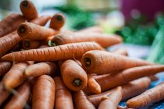 Whole Carrots. Close-up with shallow dof Stock Images