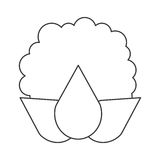Whole cauliflower icon Stock Photo