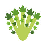 Whole celery icon Royalty Free Stock Image