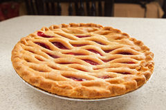 Whole cherry pie Royalty Free Stock Images