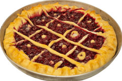 Whole cherry pie Royalty Free Stock Photos