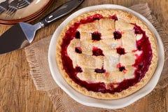 Whole Cherry Pie Royalty Free Stock Photos
