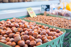 Whole chestnuts on sale Royalty Free Stock Photos