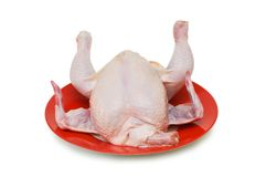 Whole chicken isolated Royalty Free Stock Photos