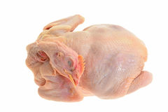 Whole  Chicken Ready For Cooking Stock Photos