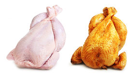 Whole chicken roast and fresh Stock Photo