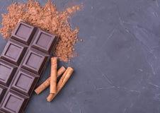 Whole chocolate bar stock photography