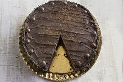 Whole chocolate cake Stock Images