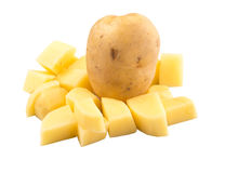Whole and Chopped Potato IV Stock Photos