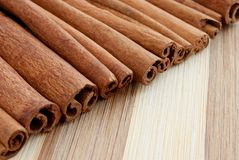 Whole cinnamon sticks Stock Images