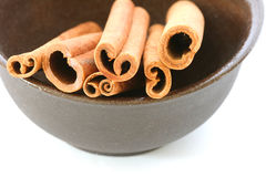 Whole cinnamon sticks Royalty Free Stock Image
