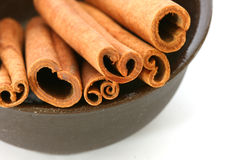 Whole cinnamon sticks Stock Image